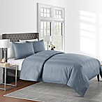 625-Thread-Count Varigated Stripe King Duvet Cover Set in Blue