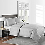 625-Thread-Count Varigated Stripe Full/Queen Duvet Cover Set in Grey