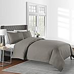 625-Thread-Count Solid Full/Queen Duvet Cover Set in Mink