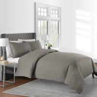 Wamsutta® Vintage Solid 625-Thread-Count King Duvet Cover Set in Mink