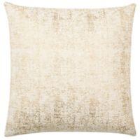 Safavieh Foil Square Throw Pillow in Golden Cream