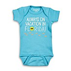 "Sarah Kety Size 0-6M ""Always on Vacation in Florida"" Bodysuit in Blue"