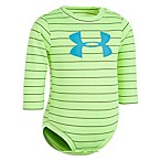 Under Armour® Size 3-6M Big Logo Striped Bodysuit in Lime