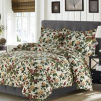 Tribeca Living Madrid Paisley Queen Duvet Cover Set in Grey Multi