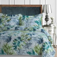 Tribeca Living Madrid Paisley Twin Duvet Cover Set in Blue Multi