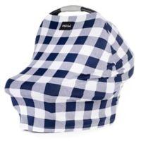 Milk Snob® Multi-Use Car Seat Cover in Navy Plaid