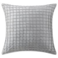 Waterford® Ryan Square Throw Pillow in Platinum