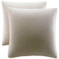 Stone Cottage Belvedere European Pillow Shams in Cream/Gold (Set of 2)