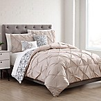 Sherilyn 9-Piece Reversible Queen Comforter Set in Ivory/Tan