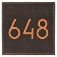 Whitehall Products Square Modern Wall Plaque in Oil Rubbed Bronze