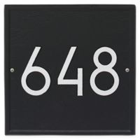 Whitehall Products Square Modern Wall Plaque in Black/Silver