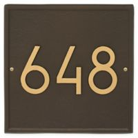 Whitehall Products Square Modern Wall Plaque in Aged Bronze