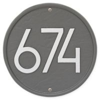 Whitehall Products Round Modern Wall Plaque in Pewter/Silver