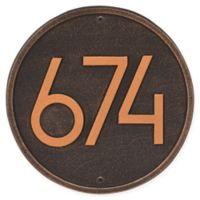 Whitehall Products Round Modern Wall Plaque in Oil Rubbed Bronze