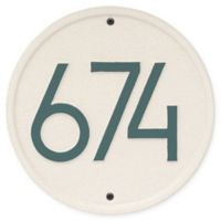 Whitehall Products Round Modern Wall Plaque in Coastal Green