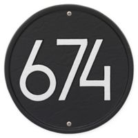 Whitehall Products Round Modern Wall Plaque in Black/Silver