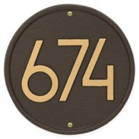 Whitehall Products Round Modern Wall Plaque in Aged Bronze