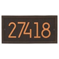 Whitehall Products Rectangle Modern Wall Plaque in Oil Rubbed Bronze