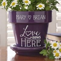 Love Grows Here Flower Pot