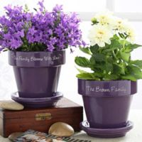 Our Family Blooms Flower Pot in Purple