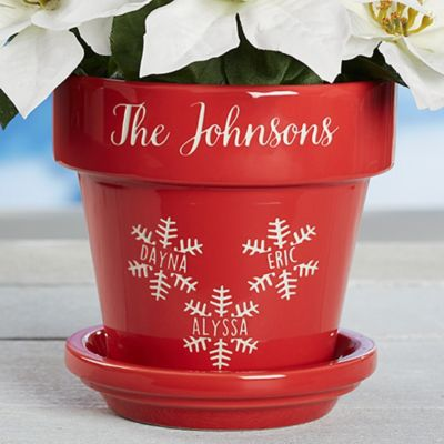 skillful design plant pots cheap. Falling Snowflake Family Flower Pot Buy Decorative Pots from Bed Bath  Beyond