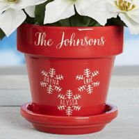 Falling Snowflake Family Flower Pot