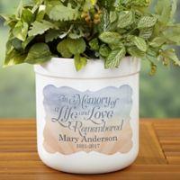 In Memory Outdoor Flower Pot