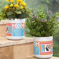 MOM Photo Collage Outdoor Flower Pot