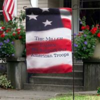 """American Flag Personalized 17.25"""" L x 12.5"""" Garden Flag"""