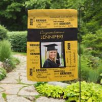 School Spirit Photo Garden Flag