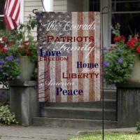 Patriotic Family Garden Flag