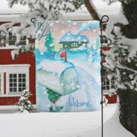 Enchanted Snow Escape Garden Flag