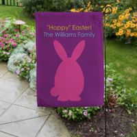 Easter Bunny Family Garden Flag