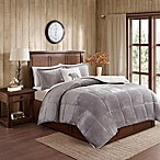 Woolrich® Alton Plush to Sherpa Full/Queen Comforter Set in Grey/Ivory