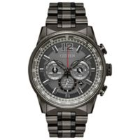 Citizen Nighthawk Men's 43mm Chronograph Watch in Granite Ion-Plated Stainless Steel