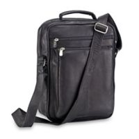 Piel® Leather Classic 10.5-Inch Laptop Case Shoulder Bag in Black