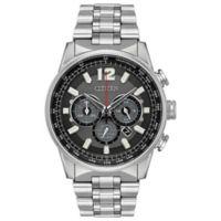 Citizen Nighthawk Men's 43mm Chronograph Watch in Stainless Steel