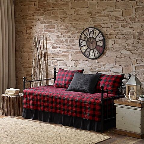 Woolrich 174 Buffalo Check Reversible Daybed Set Bed Bath