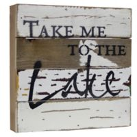 "Sweet Bird & Co. ""Take Me to the Lake"" Reclaimed Wood Wall Art"