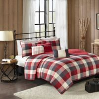 Madison Park Ridge Herringbone King/California King Coverlet Set in Red