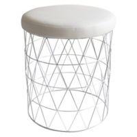 Taymor® Urban Modern Cosmo Stool in Chrome/White