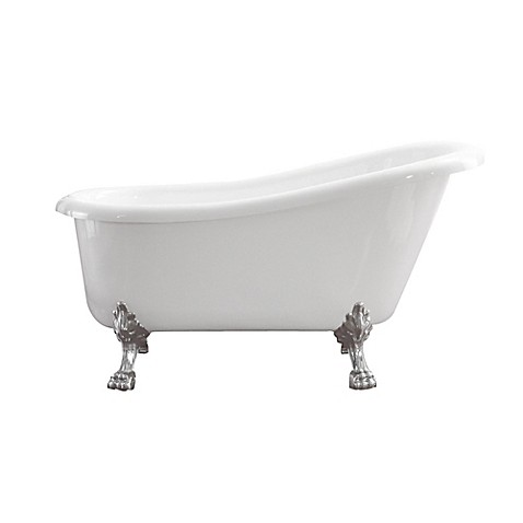 image of Azzuri Elise 59-Inch Freestanding Acrylic Soaking Tub in White