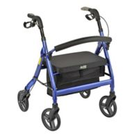 Heavy-Duty Personal Rollator in Metallic Blue