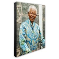 Photo File Nelson Mandela 20-Inch x 24-Inch Photo Canvas Wall Art