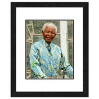 Photo File Nelson Mandela 22-Inch x 26-Inch Framed Photo Wall Art