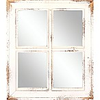Masterpiece Art Gallery Rectangular Art Mirror in White Wash