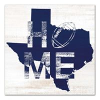 Designs Direct Texas Football State Pride 16-Inch Square Canvas Wall Art in Blue