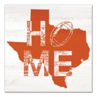 Designs Direct Texas Football State Pride 16-Inch Square Canvas Wall Art in Orange