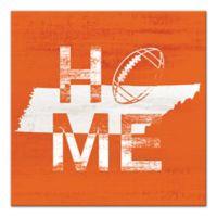 Designs Direct Tennessee State Pride 16-Inch Square Canvas Wall Art in Orange