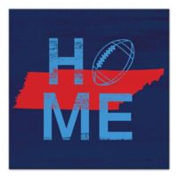 Designs Direct Tennessee State Pride 16-Inch Square Canvas Wall Art in Blue